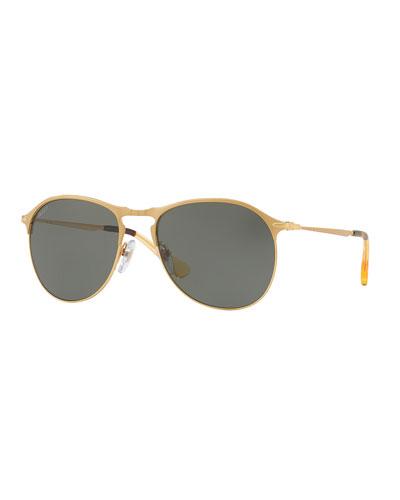 PO649S Aviator Sunglasses