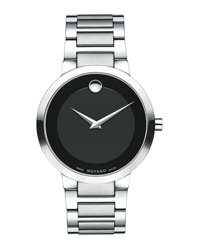 39.2mm Modern Classic Watch, Gray/Black