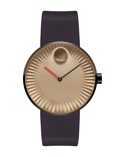 40mm Edge Watch with Silicone Strap, Brown
