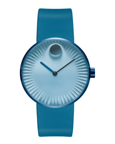 40mm Edge Watch with Silicone Strap, Teal