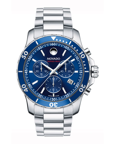 Series 800 Chronograph Watch, Gray/Blue
