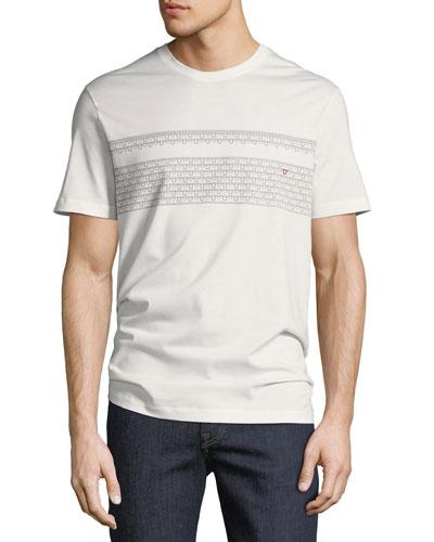 Gancio-Stripe Embroidered T-Shirt