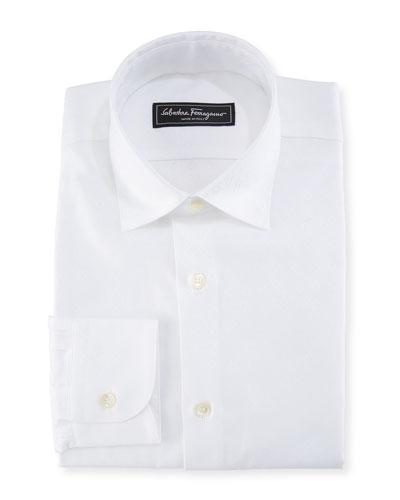 Cotton Gancini-Jacquard Sport Shirt