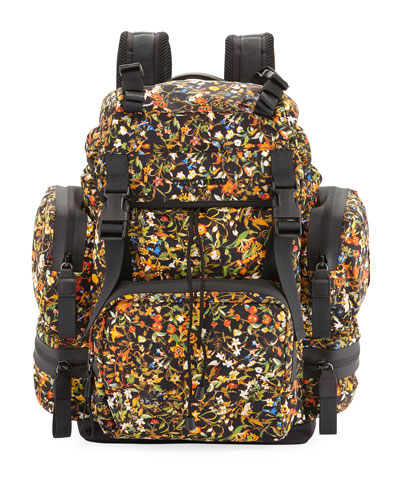 Men's Akira Floral-Print Backpack