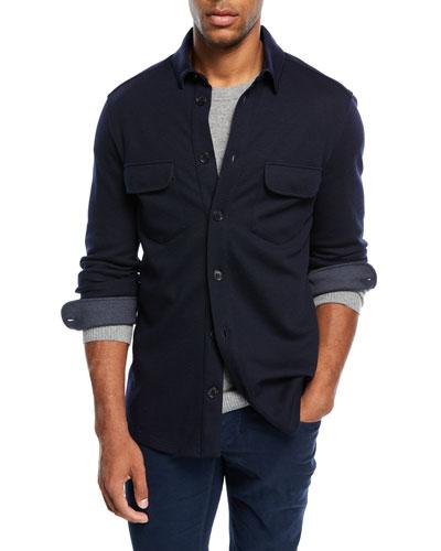Cashmere-Blend Over Shirt