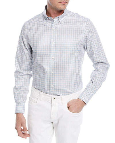 Alfred Check Cotton Sport Shirt
