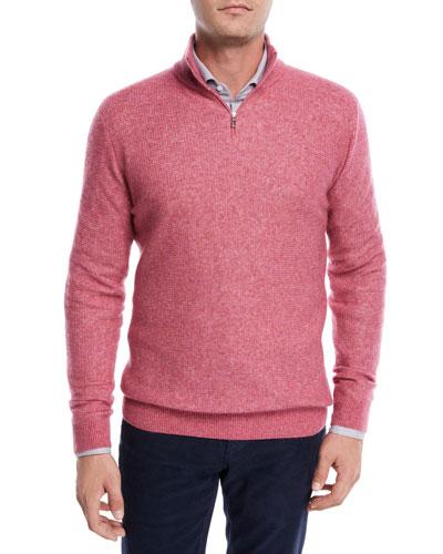 Cashmere-Silk Quarter-Zip Sweater