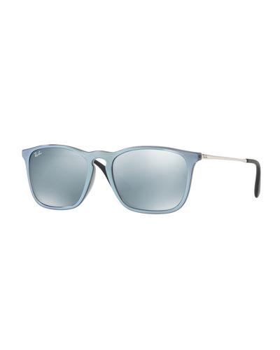 Chris Rectangular Mirrored Sunglasses