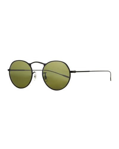 M-4 30th Anniversary Round Sunglasses, Black