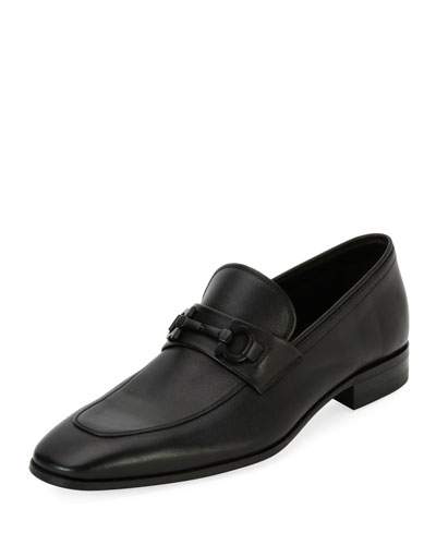 Soft Calfskin Slip On Gancini Loafer