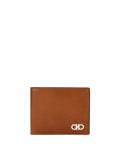 Smooth Calfskin Leather Bi-Fold Wallet