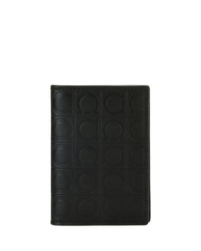 e12ecdd904a Men s Gancio-Embossed Leather Card Case Quick Look. Salvatore Ferragamo