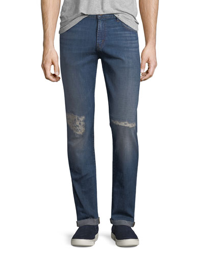 Men's Tyler Tapered Slim-Fit Jeans with Distressing, Experiment