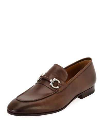Tramezza Leather Gancini-Belt Loafer