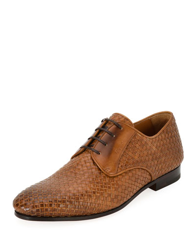 Tramezza Woven Leather Oxford Shoe
