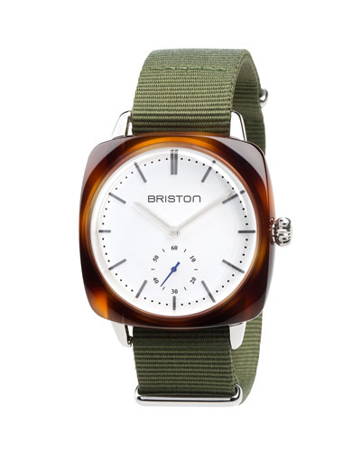 Clubmaster Vintage Chronograph Watch, Green/Brown
