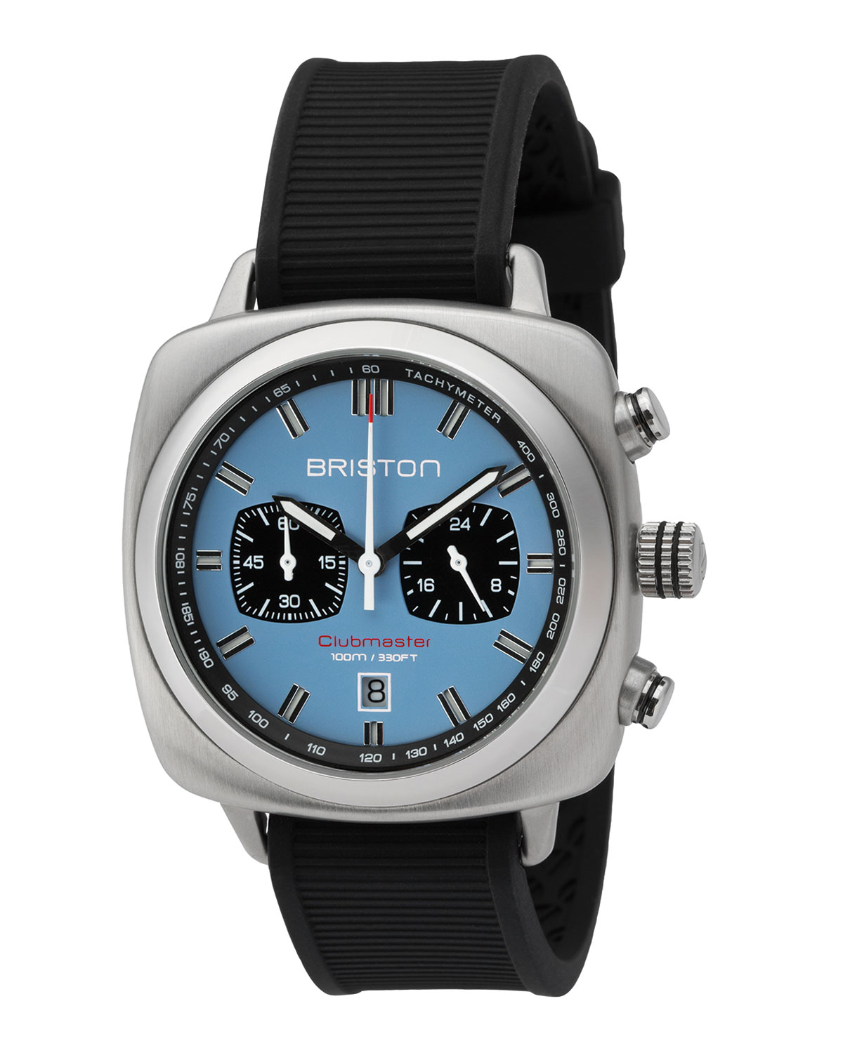 Clubmaster Sport Chronograph Watch, Black/Light Blue