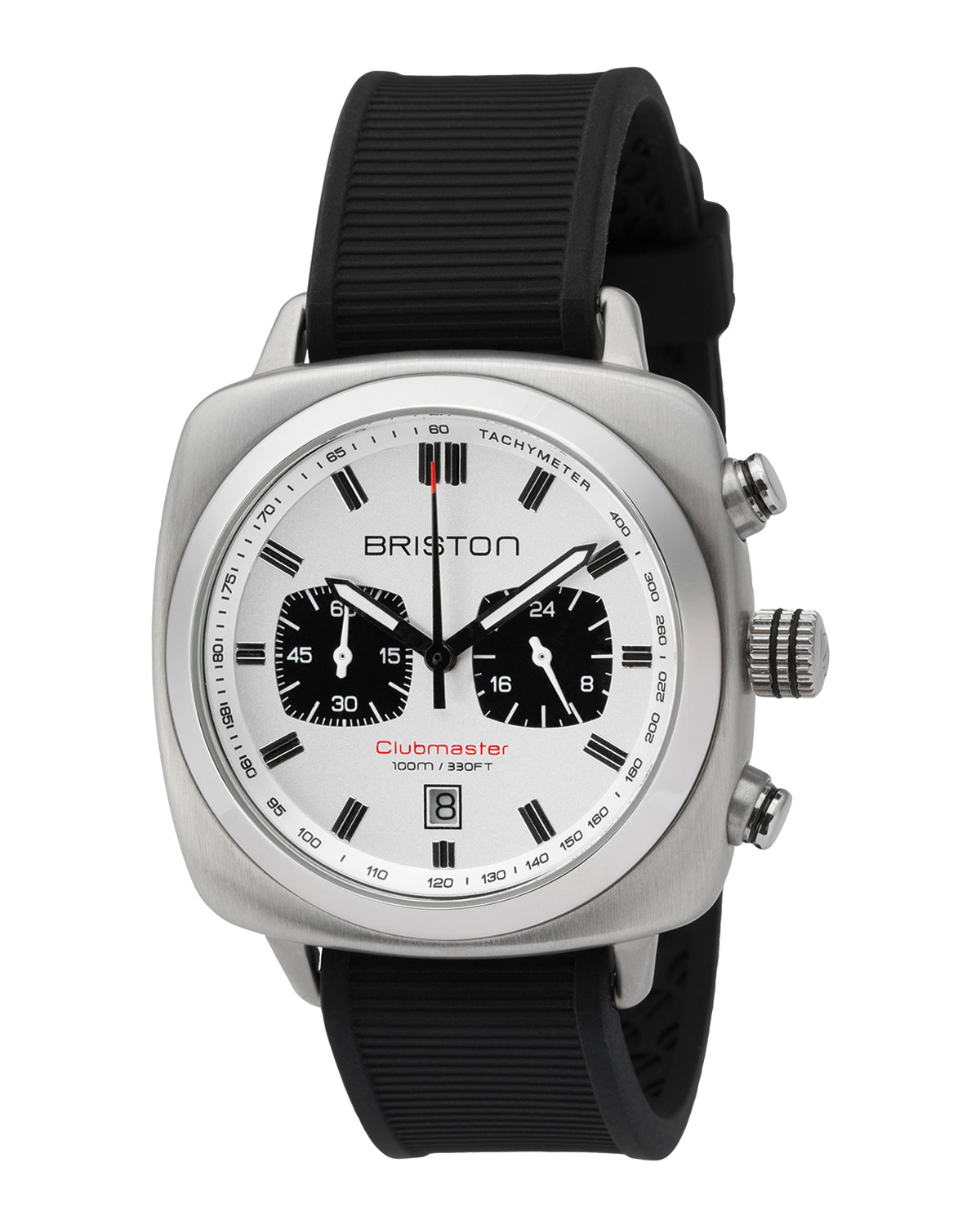 Clubmaster Sport Chronograph Watch, White/Black