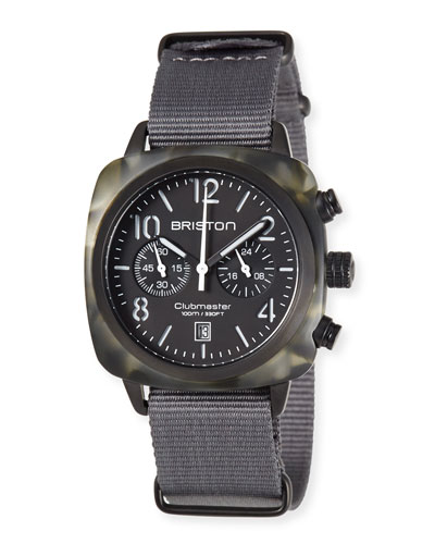 Clubmaster Classic Chronograph Watch, Gray/Black