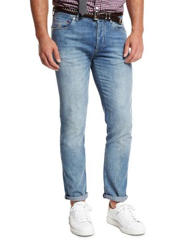 Lightweight Slim-Fit Denim Jeans