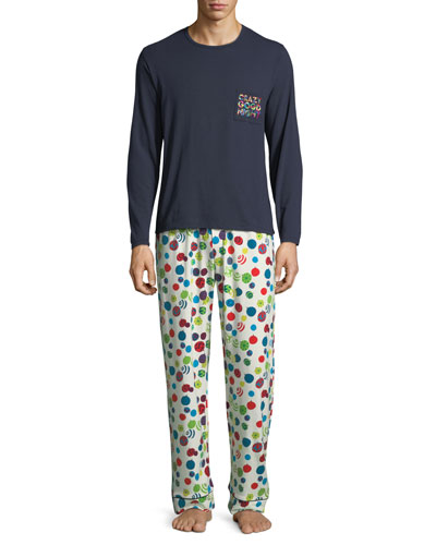 Graphic T-Shirt Long Pajama Set