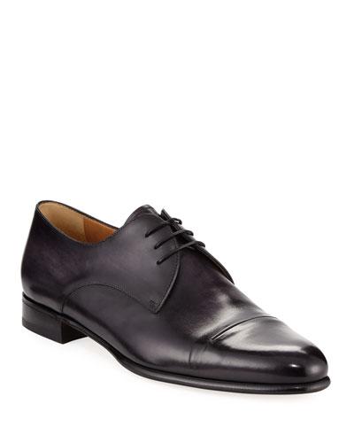 c9d4849b420a5c Gaspard Slash-Toe Leather Shoe