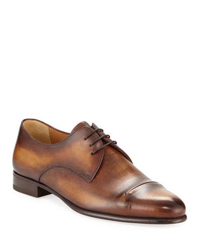 21c58806c835 Gaspard Slash-Toe Leather Shoe