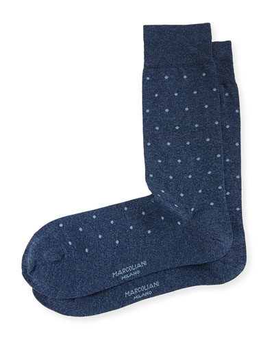 Polka Dot-Print Cotton Socks