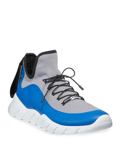 Men's Vocabulary High-Top Scuba Sneakers