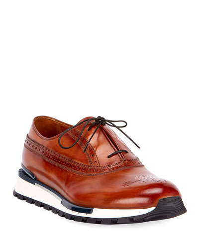 Venezia Leather Brogue Sneaker