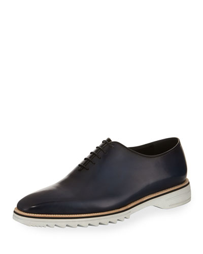Venezia Leather Lug Sole Lace Up Shoe