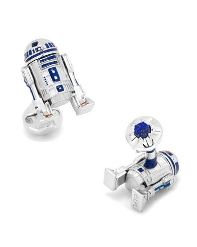 3D Star Wars R2-D2 Cuff Links