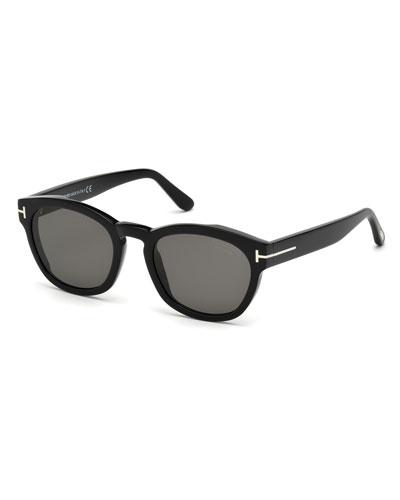 Bryan Rounded Plastic Sunglasses