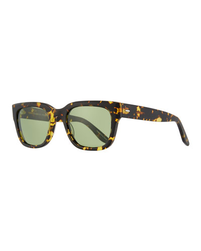 Men's Stax Square Tortoiseshell Sunglasses