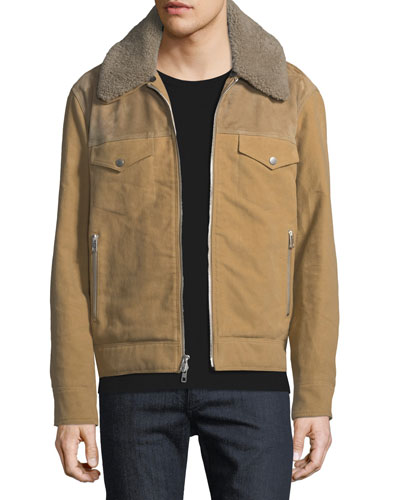 Matthew Jacket with Removable Shearling Trim