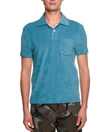 Terry-Cloth Polo Shirt