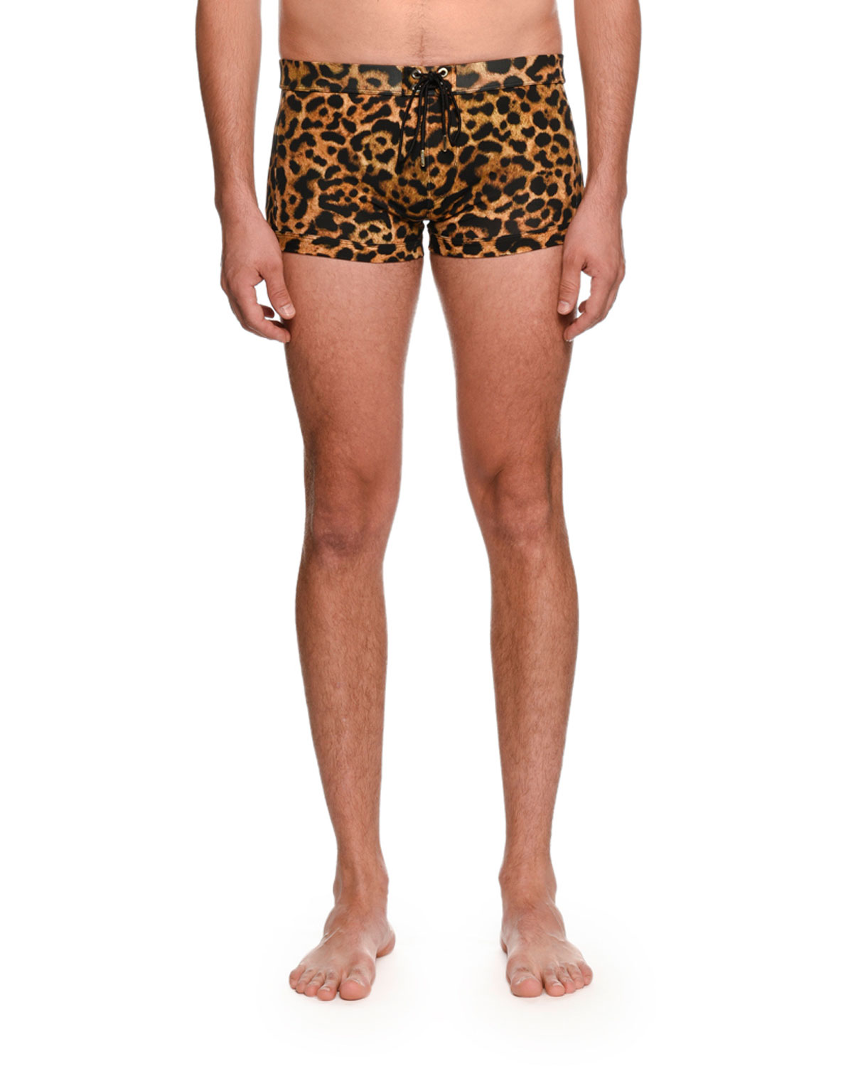 Leopard-Print Swim Shorts
