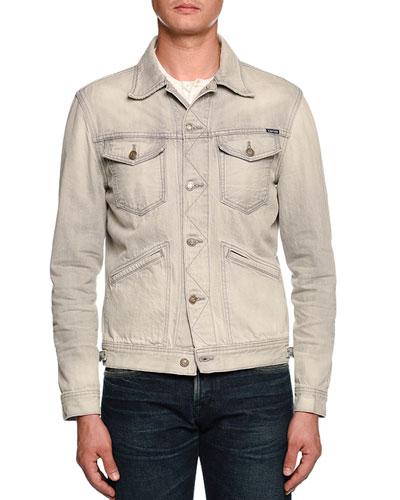 Gray-Washed Denim Jacket