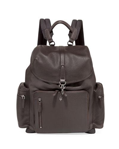 Maserati Leather Backpack