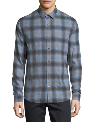 Shadow Plaid Long-Sleeve Shirt