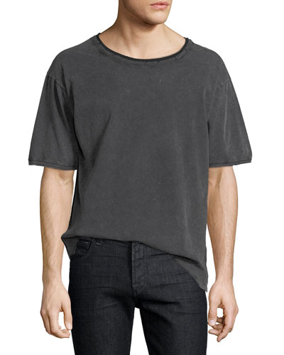 Distressed Cotton T-Shirt