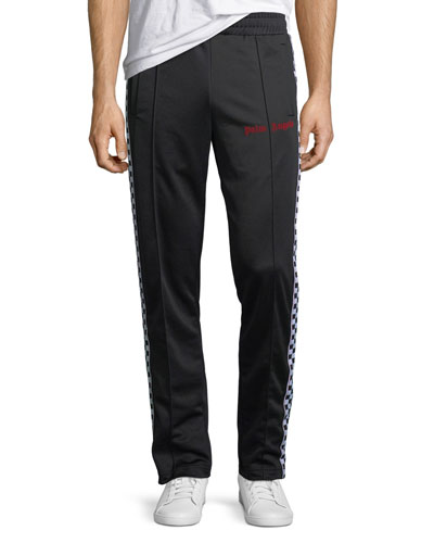 Checked Band Track Pants