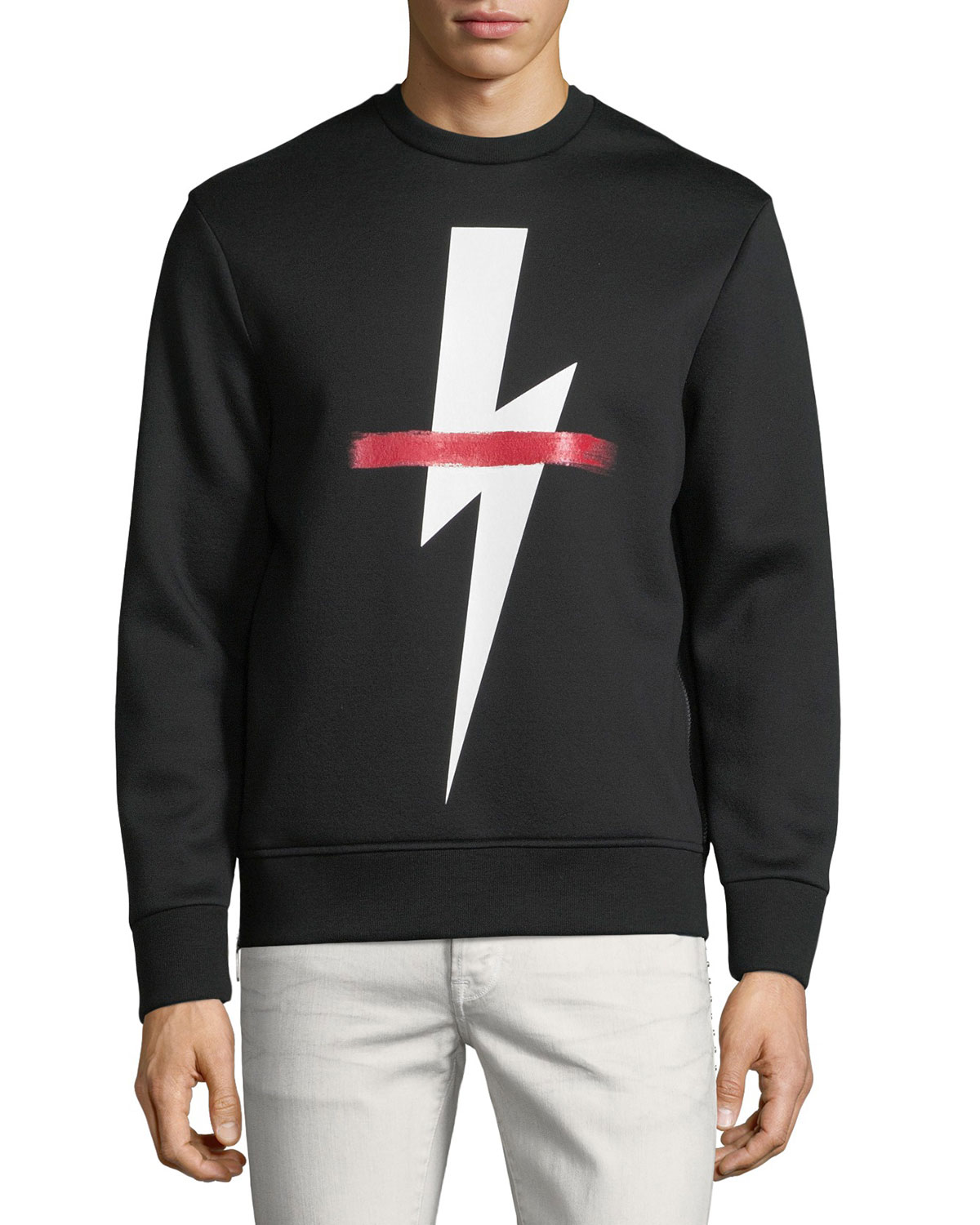 Crossed Out Bolt Graphic Sweatshirt