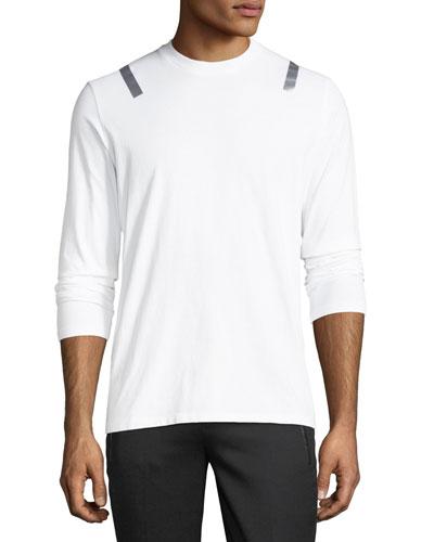 Taped-Shoulder Long-Sleeve T-Shirt