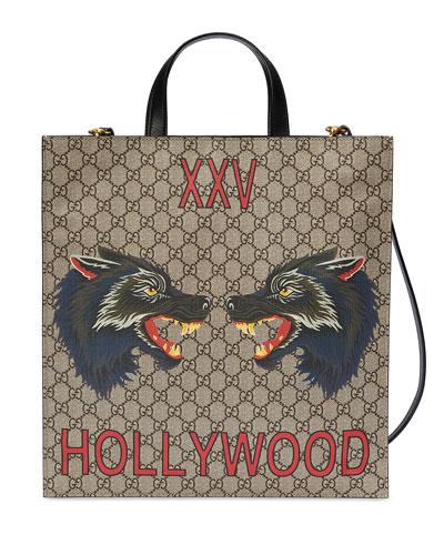 Men's XXV Wolf Head GG Supreme Tote Bag