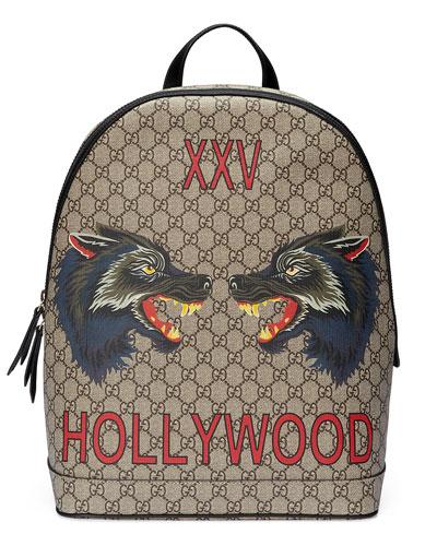 XXV Wolf-Print GG Supreme Backpack