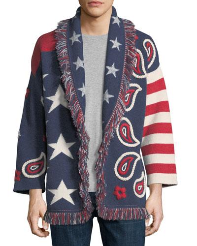 Bandana Cashmere Wrap Sweater