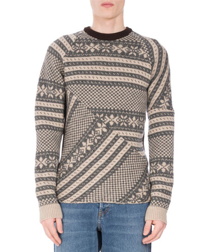 Tacos Geometric Snowflake Sweater