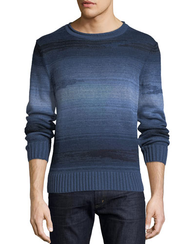 Striped Linen-Blend Sweater Quick Look. Ralph Lauren