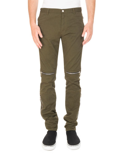 Zip-Trim Biker Trouser Pants